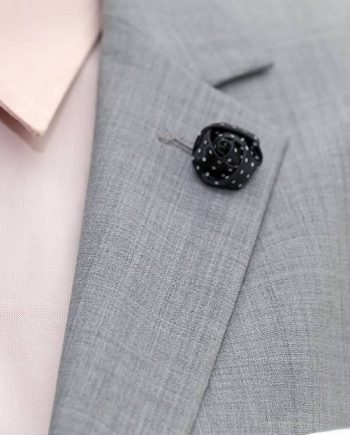 Black Polka Dot Lapel Pin