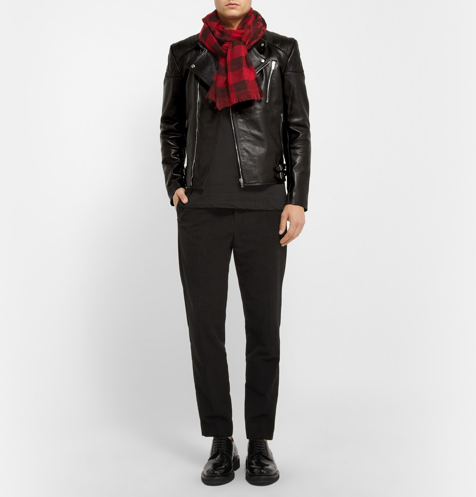 McQ Quilted Leather Biker Jacket