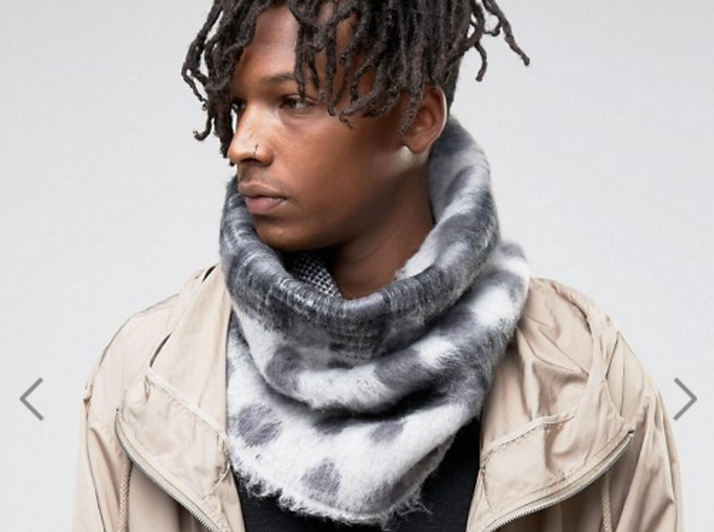 accessories men mens for hilfiger tommy gallery lyst infinity scarf blue product snood fargo in normal