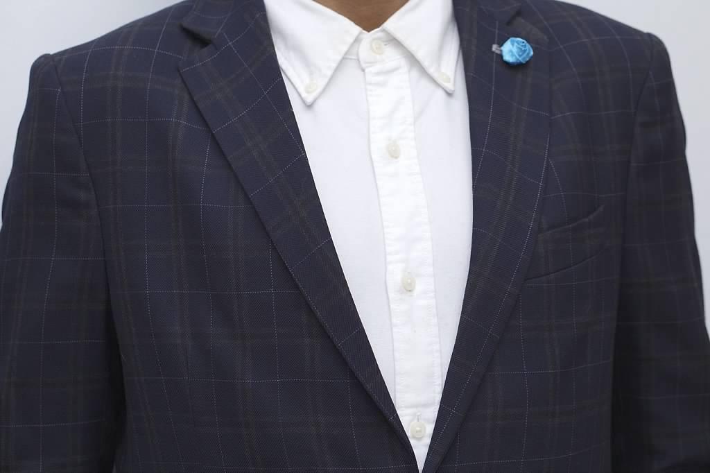 Blue Polka Dot Lapel Pin